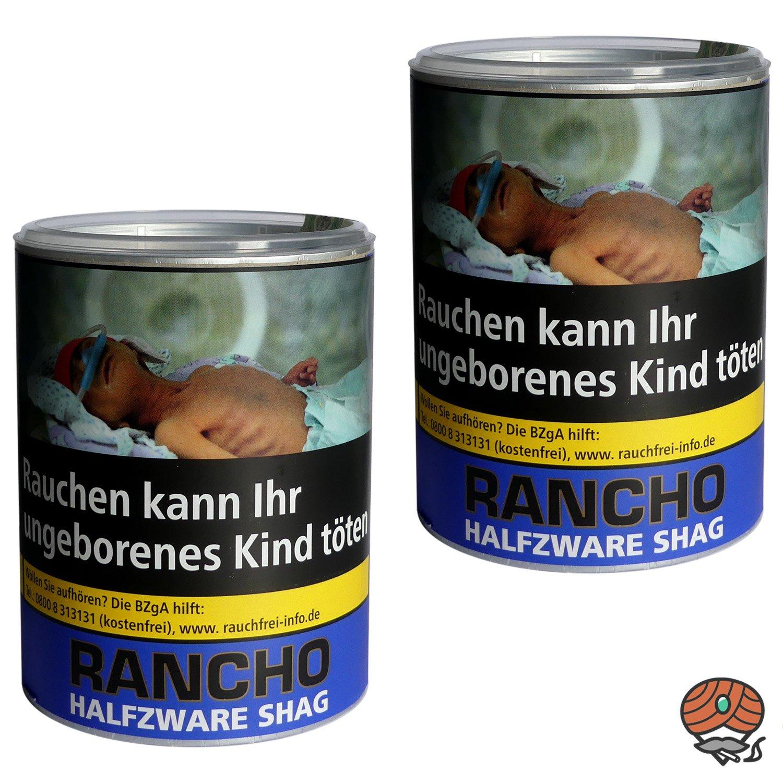 2 x Rancho Halfzware Shag Zigarettentabak Dose à 190 g