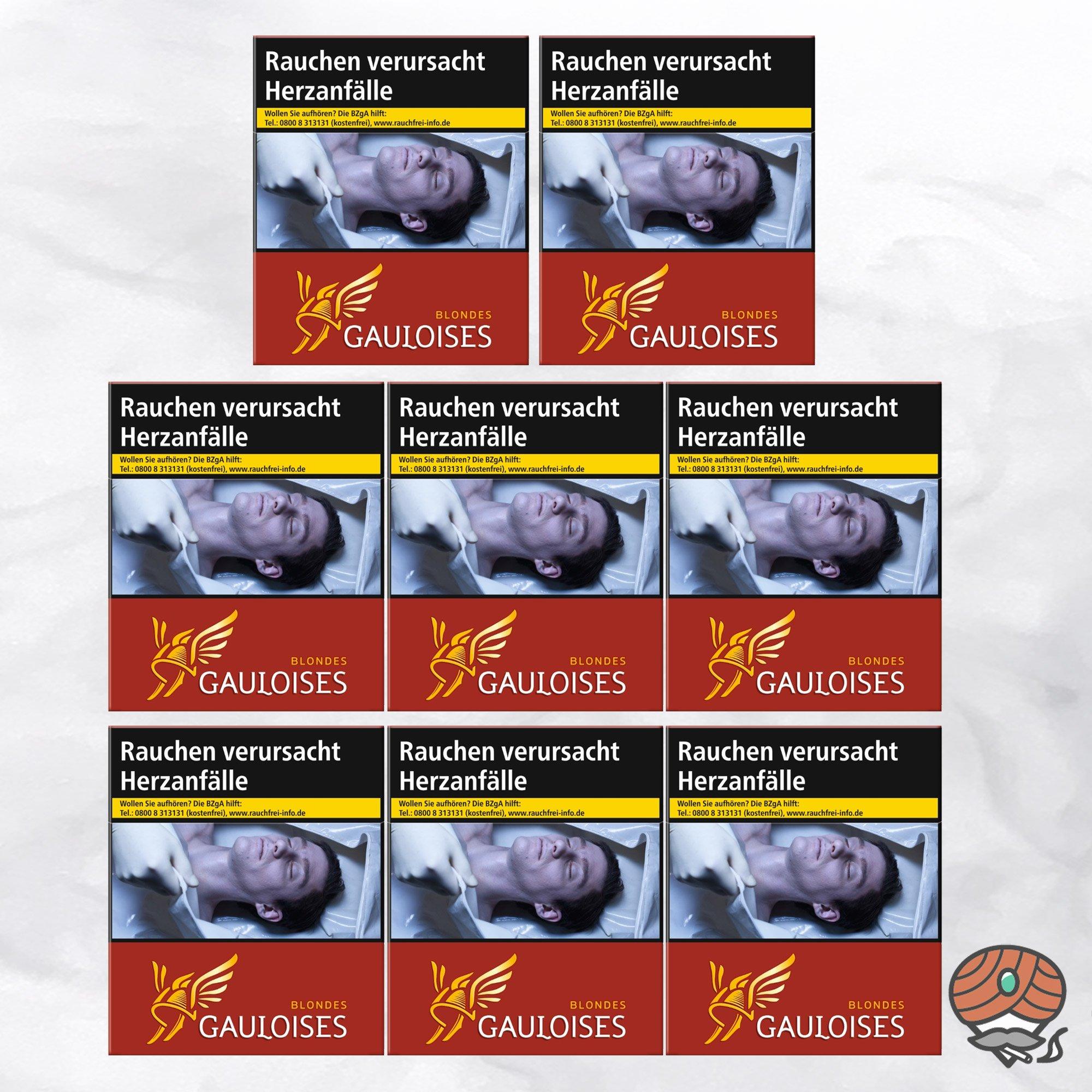 8 x Gauloises Blondes Rot XXXL Zigaretten à 31 Stück