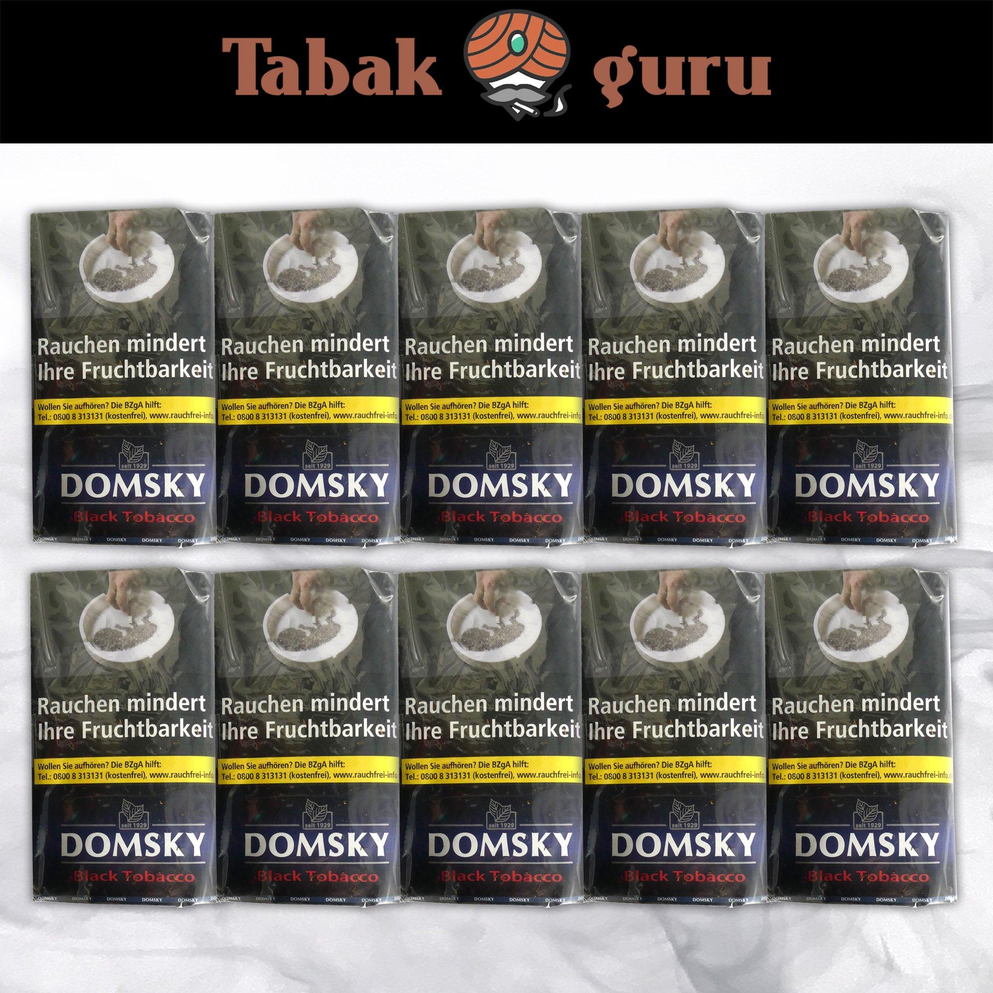 10 x DOMSKY Black Tobacco Drehtabak 40 g