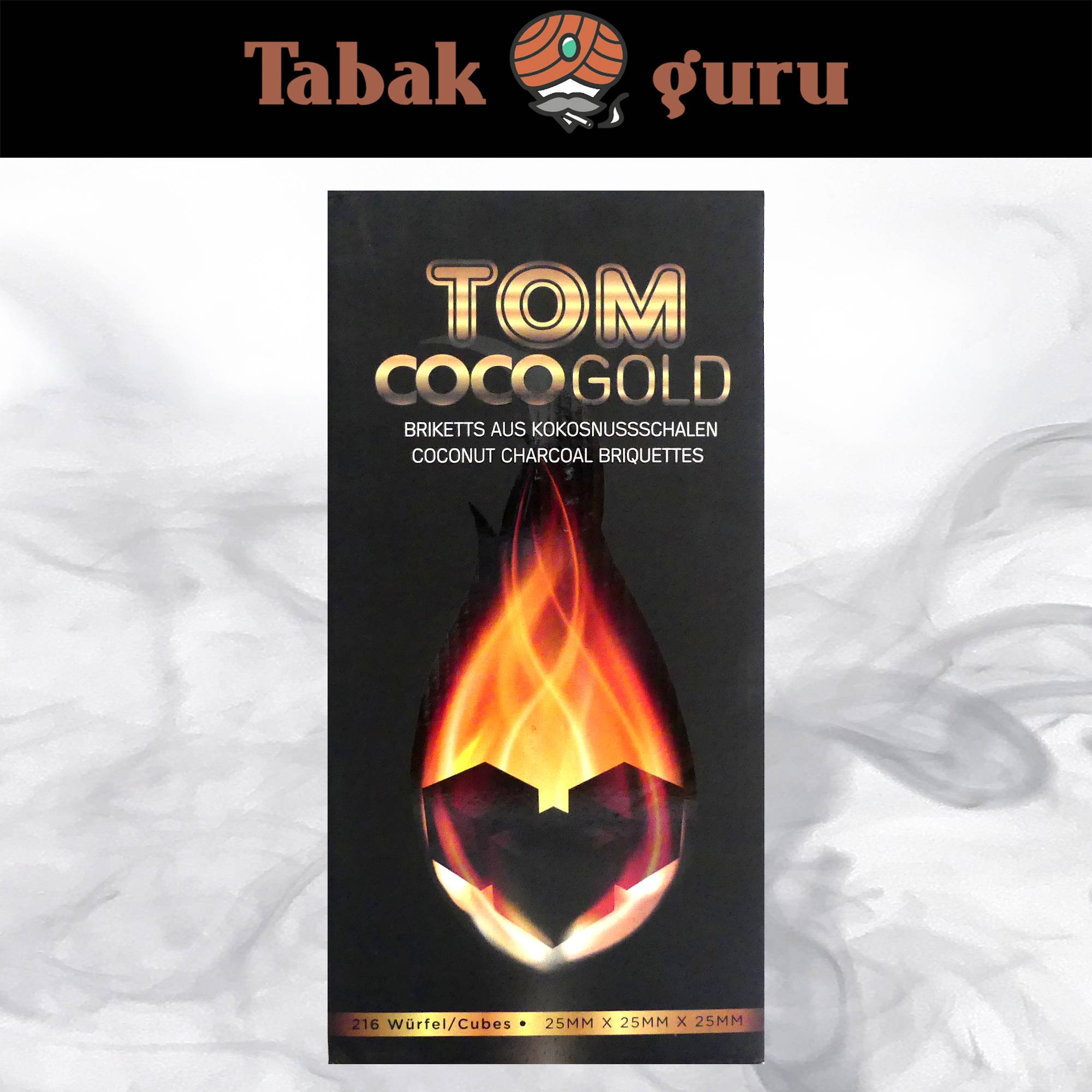 Tom Cococha CocoGold Shishakohle 3 kg / 216 Stück