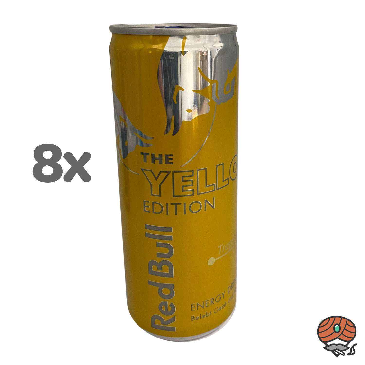 8 x Red Bull Energy Drink THE YELLOW EDITION, Tropical, 250 ml Dose