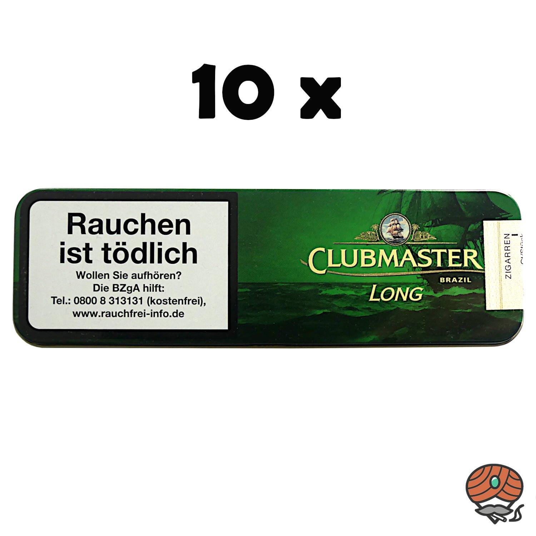 10 x Clubmaster Long Brazil No. 174 Zigarillos à 10 Stück