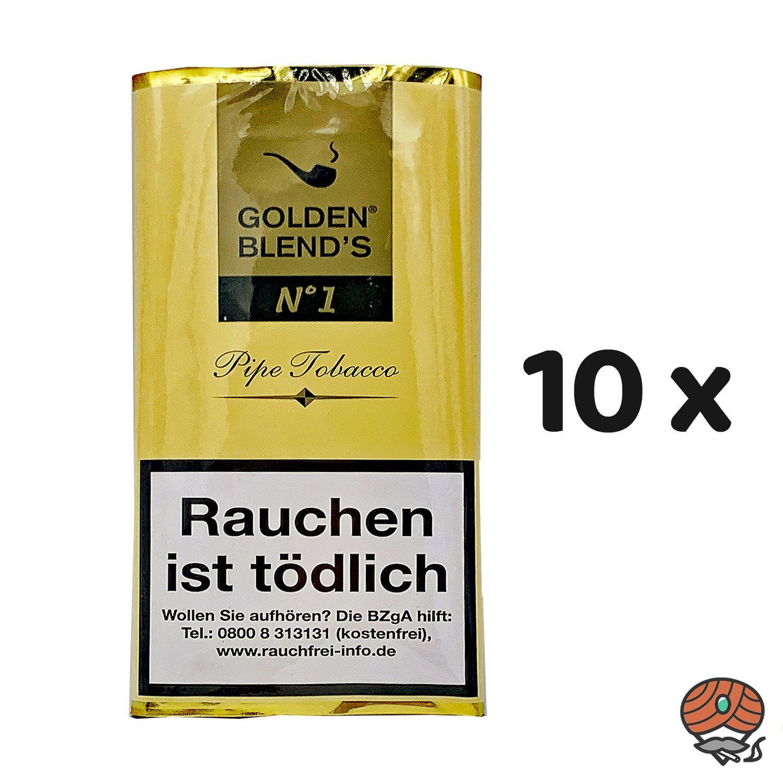 10 x Golden Blend´s No. 1 Pfeifentabak 50g Pouch (ehem. Vanilla)