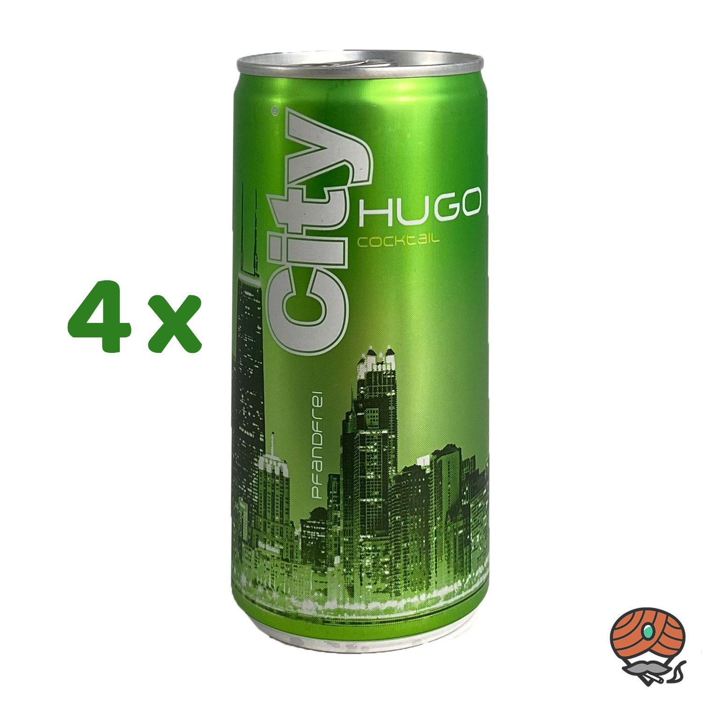 4 x City Hugo, 200 ml Dose, alc. 6,9 % Vol.