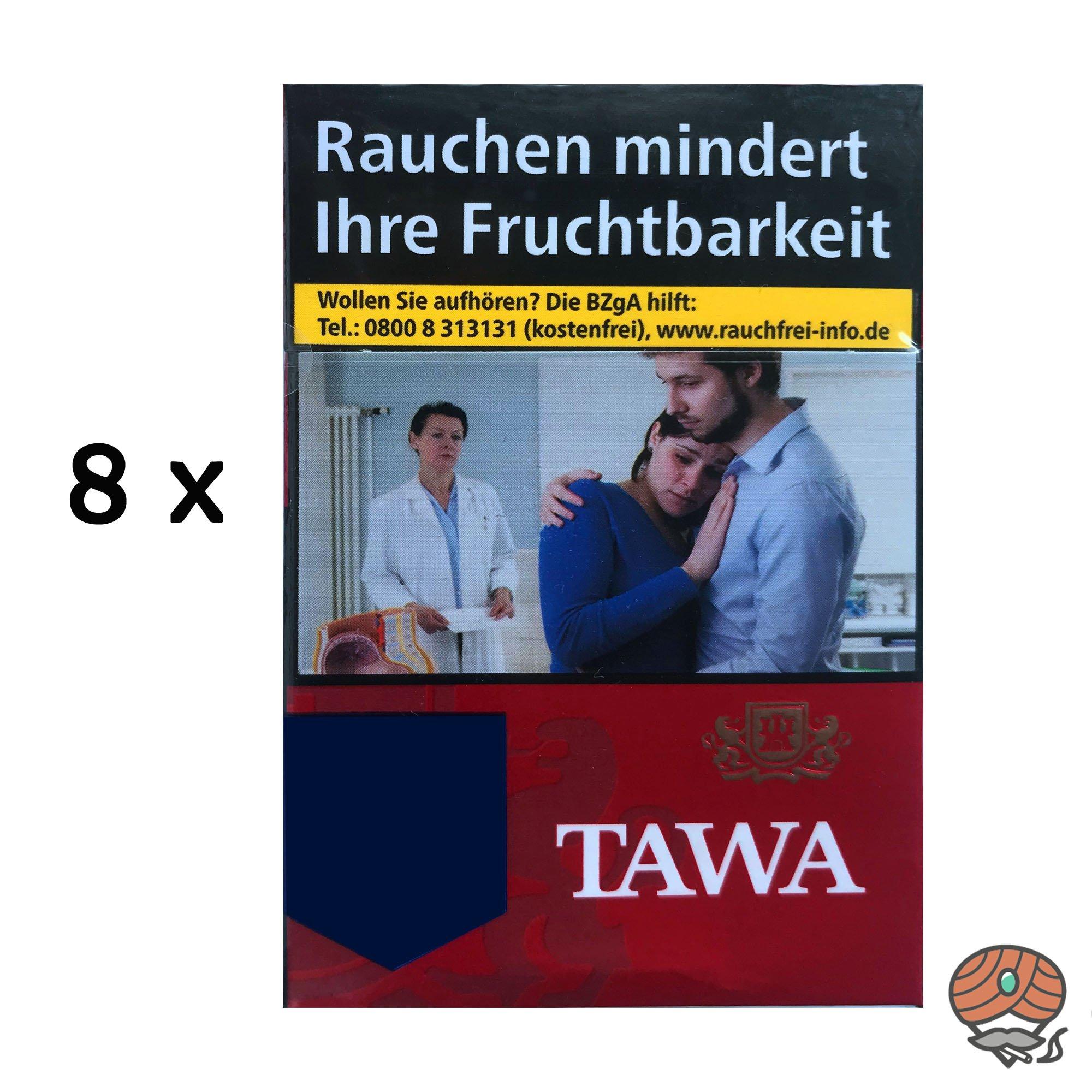 Tawa Red / Rot Big Zigaretten - 8 Schachteln à 24 Stück