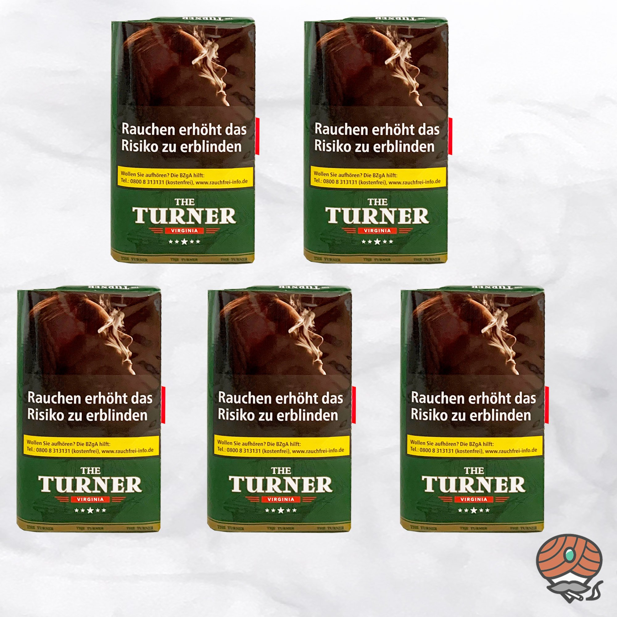 5 x The Turner Virginia Drehtabak Pouch 40 g