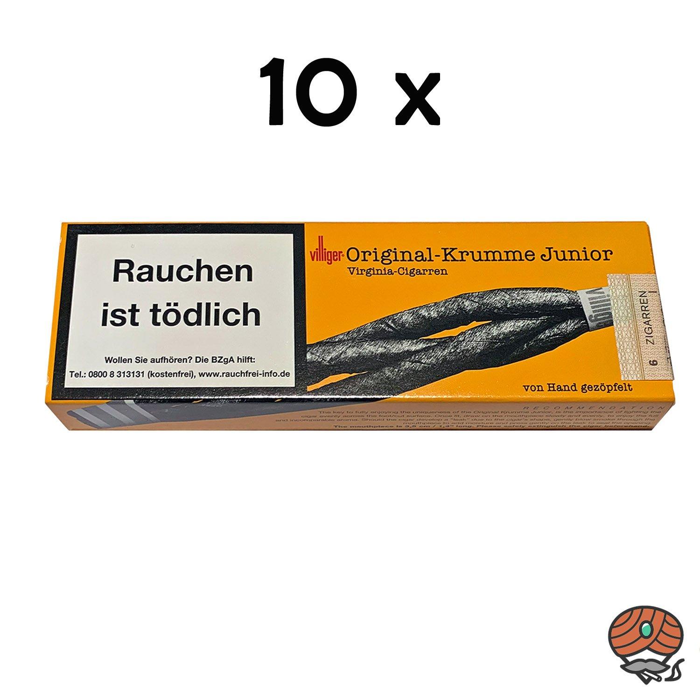 10 Schachteln Villiger Original Krumme-Junior