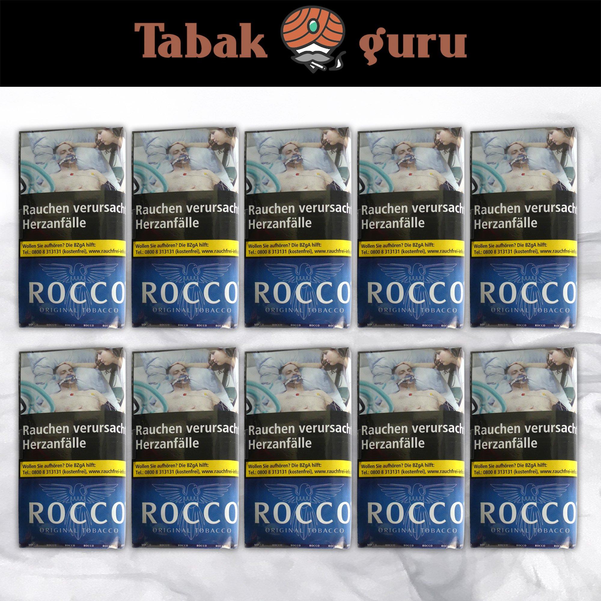 10 x ROCCO Original Tobacco Drehtabak 38 g