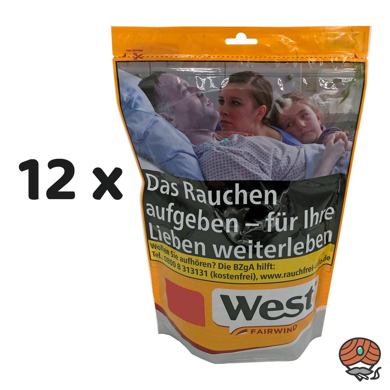 12x West Yellow Players Red 120g Tabak / Volumentabak Jumbo Beutel