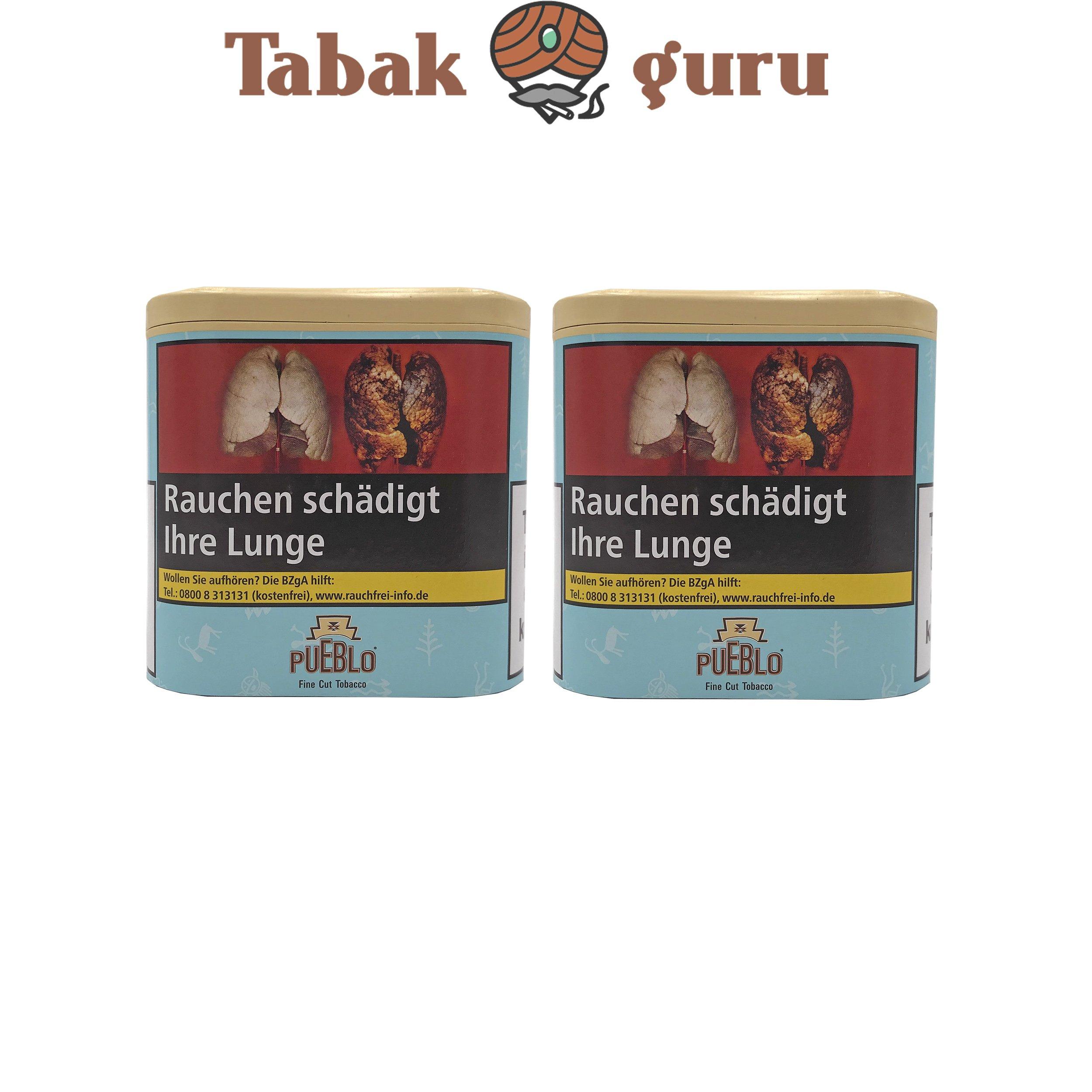 2x Pueblo Blau Feinschnitt Drehtabak Dose á 100g Tabak ohne Zusatzstoffe