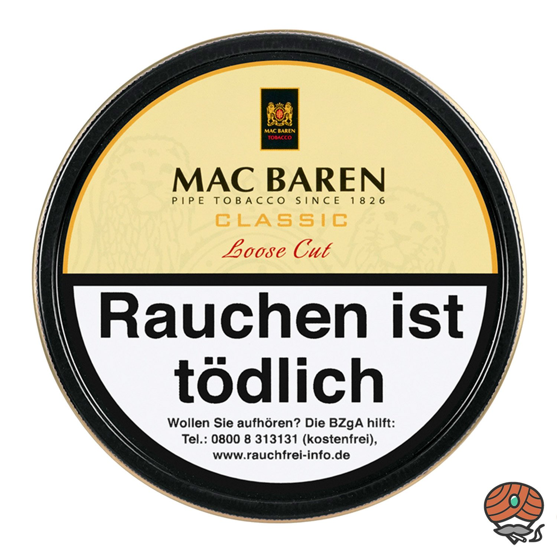 Mac Baren Classic Loose Cut Pfeifentabak 100 g Dose