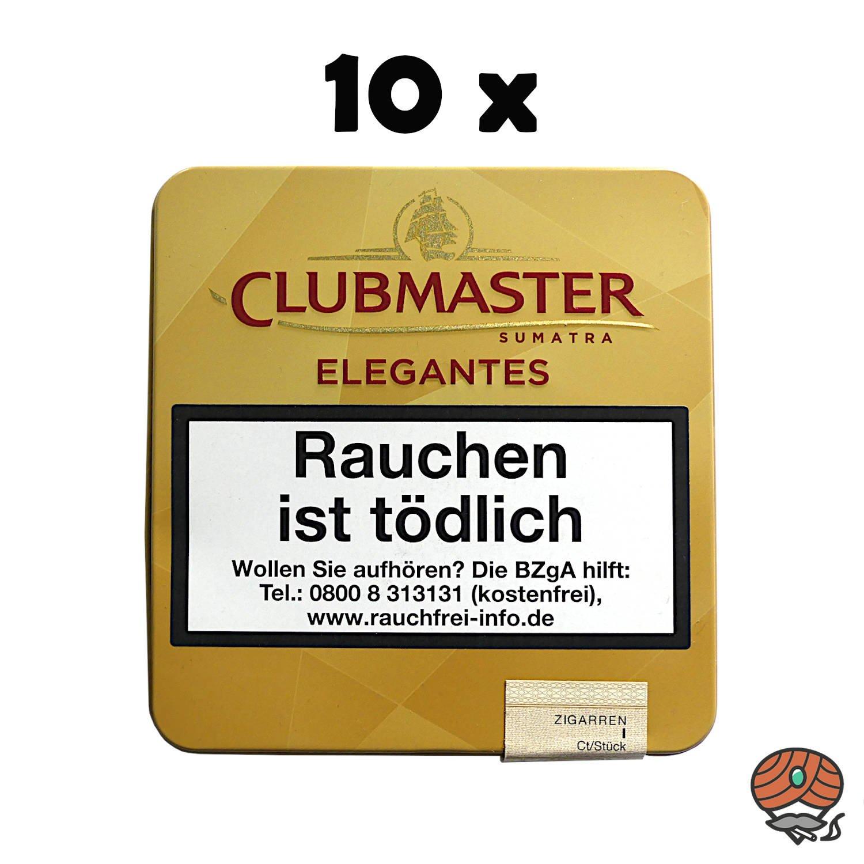 10 x Clubmaster Elegantes Sumatra No. 341 Zigarillos à 10 Stück