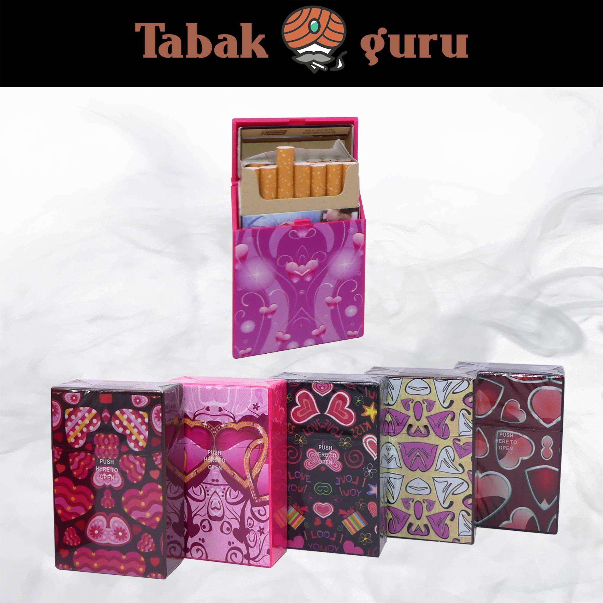 Atomic Kunststoff Zigarettenbox Motiv Hearts
