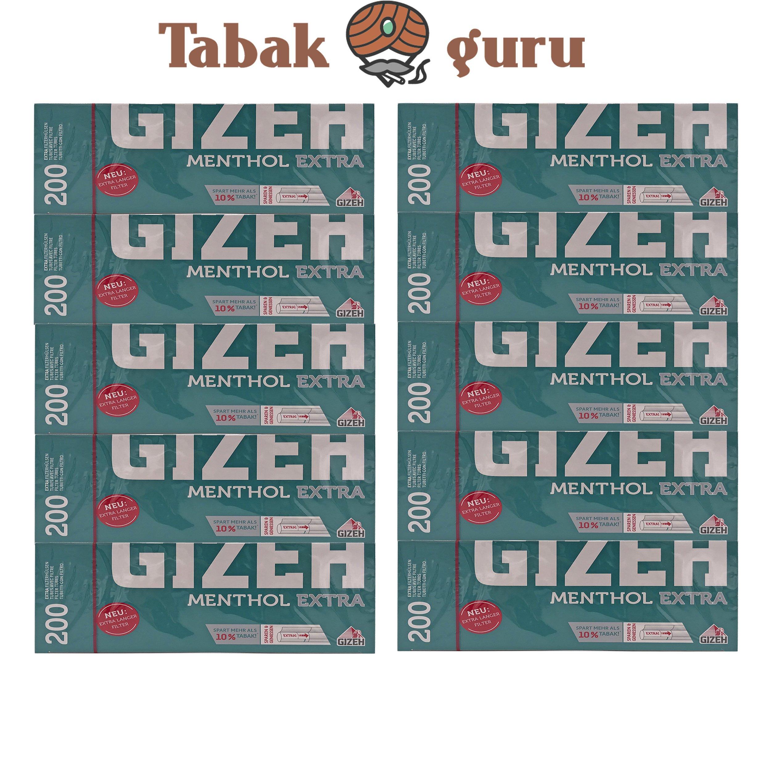 10x Gizeh Menthol Extra Filterhülsen