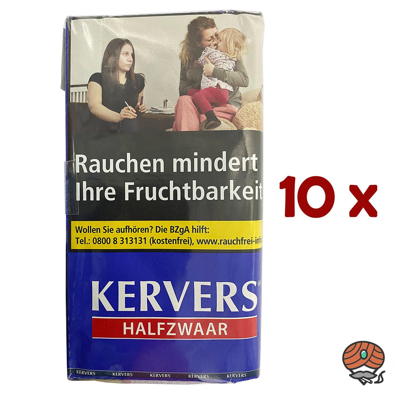 10x KERVERS Halfzwaar Drehtabak - Zigarettentabak - Tabak Pouch à 40 g