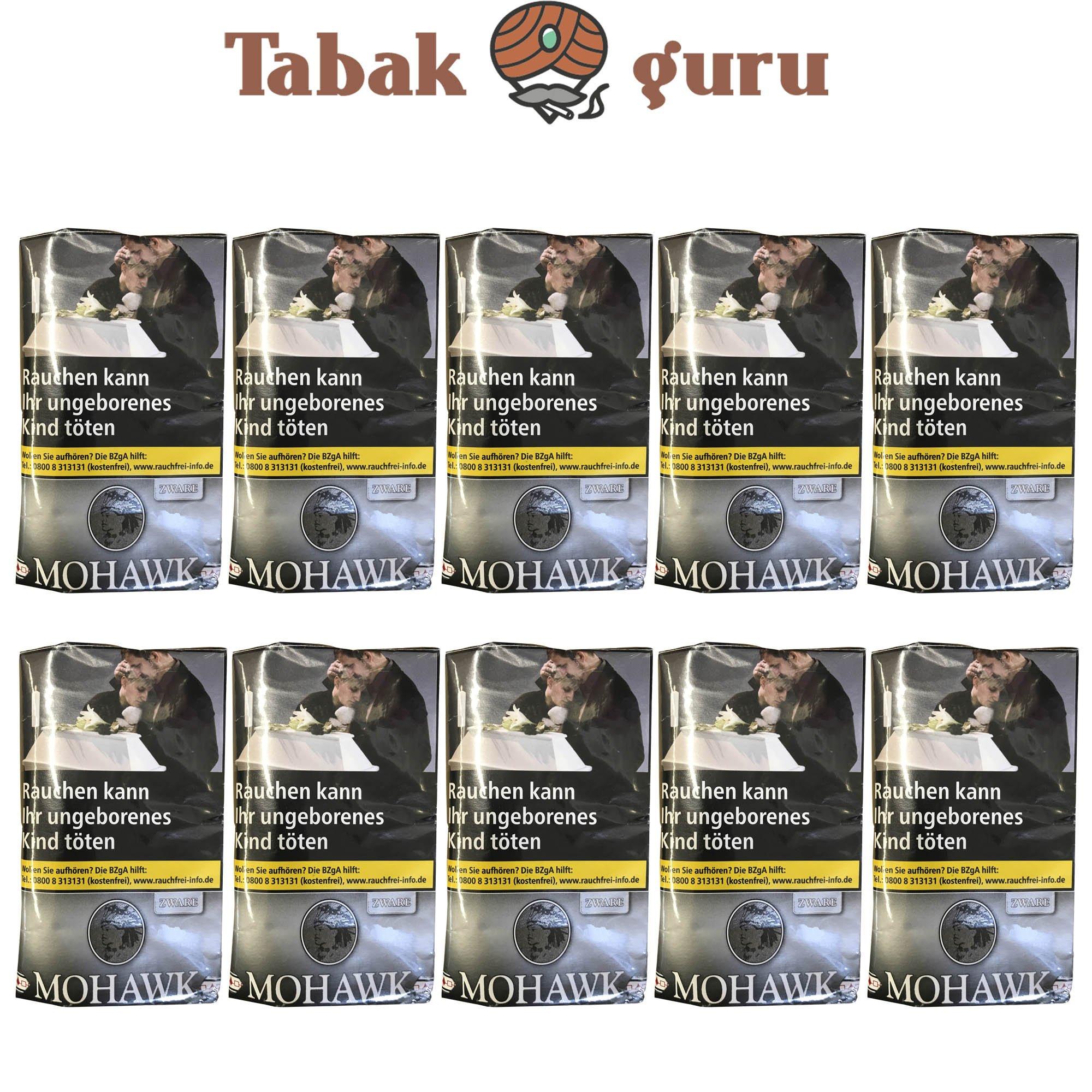 10 x Mohawk Zware 30g Drehtabak Zigarettentabak