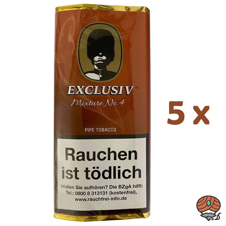 5x EXCLUSIV Mixture No. 4 Pfeifentabak Pouch à 50g (ehem. Cavendish)