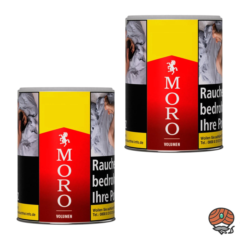 2 x Moro Rot Volumentabak Dose à 52 g