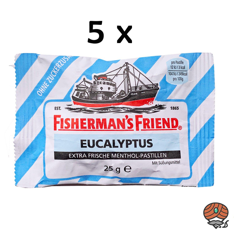 5 Fisherman`s Friend Menthol-Pastillen Eucalyptus