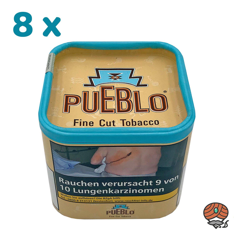 8 x Pueblo Classic Feinschnitt Drehtabak Dose á 100g Tabak ohne Zusatzstoffe