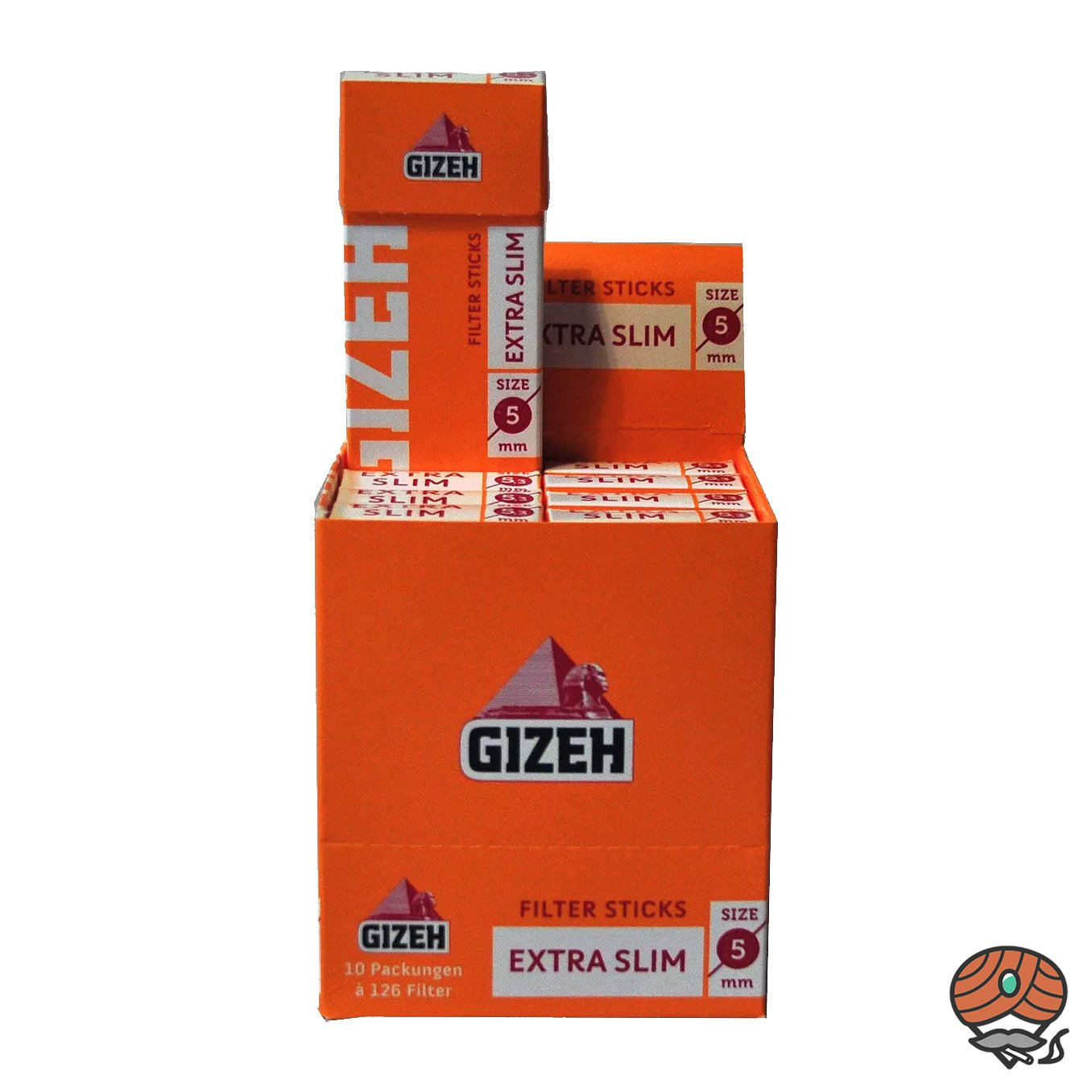 Gizeh Filter Sticks Extra Slim 10 Pack à 126 Filter Durchmesser 5 mm