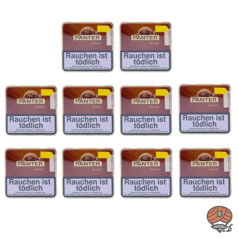 10 Dosen Panter Desert Zigarillos à 20 Stück
