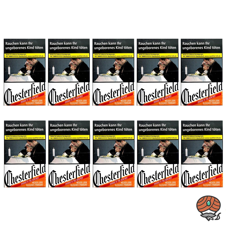 1 Stange Chesterfield ORIGINAL Zigaretten (ehem. Red) L Schachtel 10x21 Stück