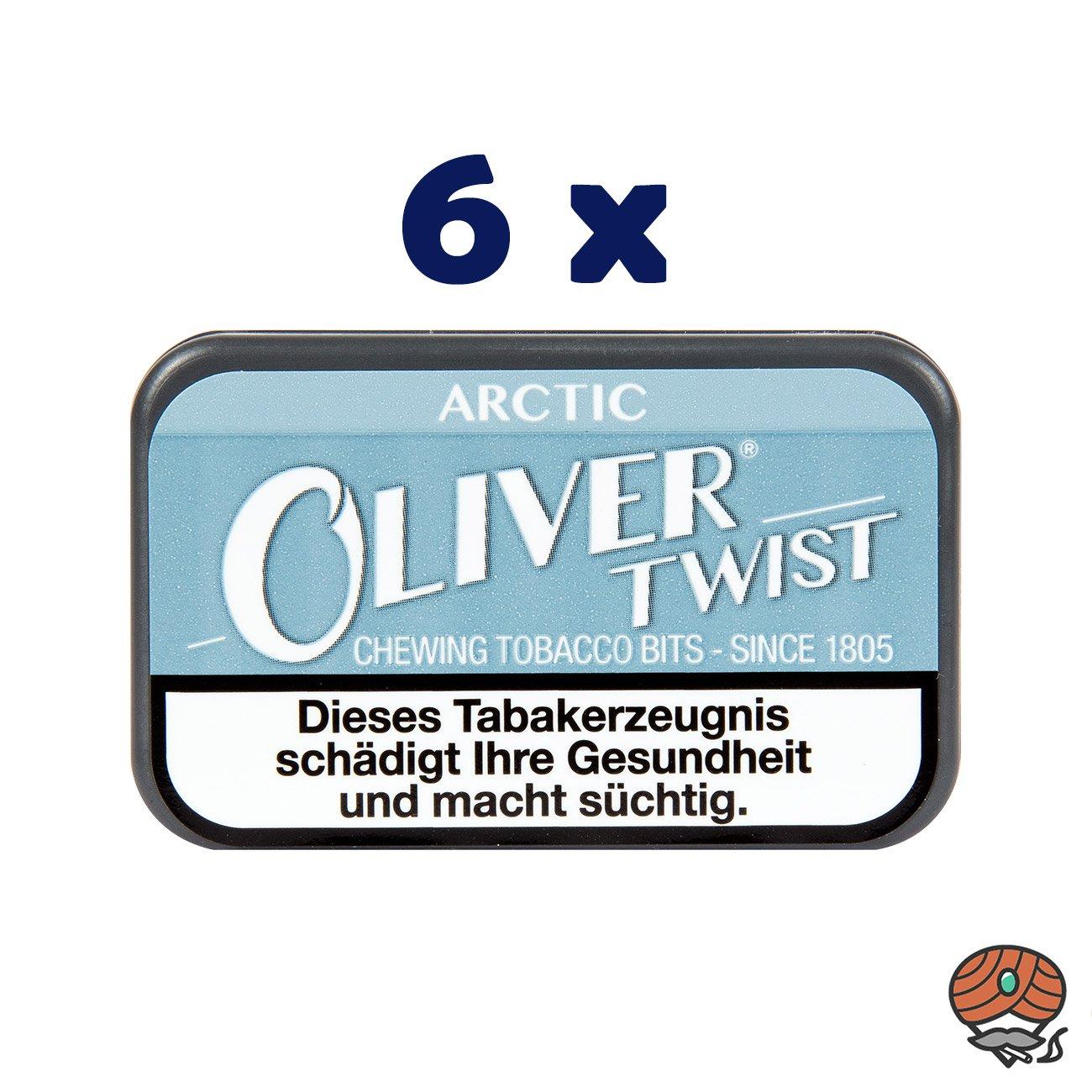 6 x Oliver Twist ARCTIC Tabakpastillen, Kautabak, Chewing Bits