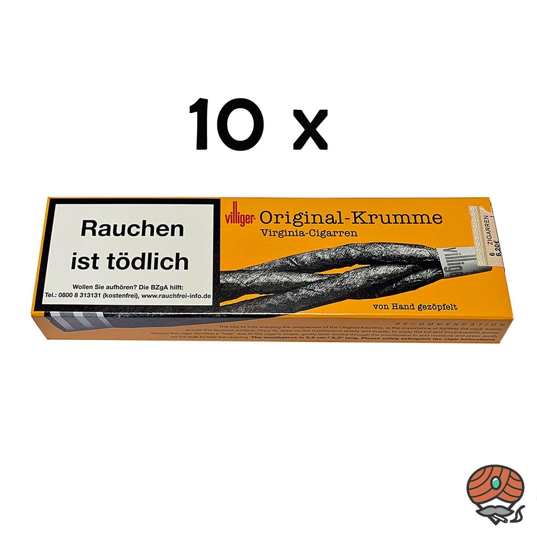 10 x Villiger Original Krumme Zigarren - Zigarillos à 6 Stück
