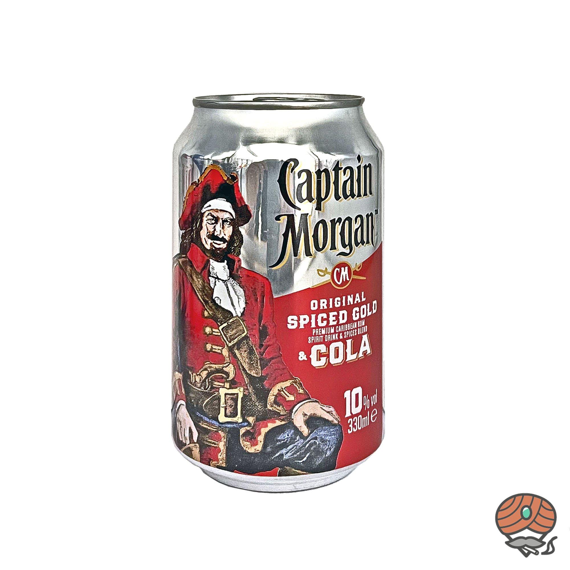 Captain Morgan Rum - Cola 0,33 l inkl.0,25 Euro Pfand (alc. 10% Vol)