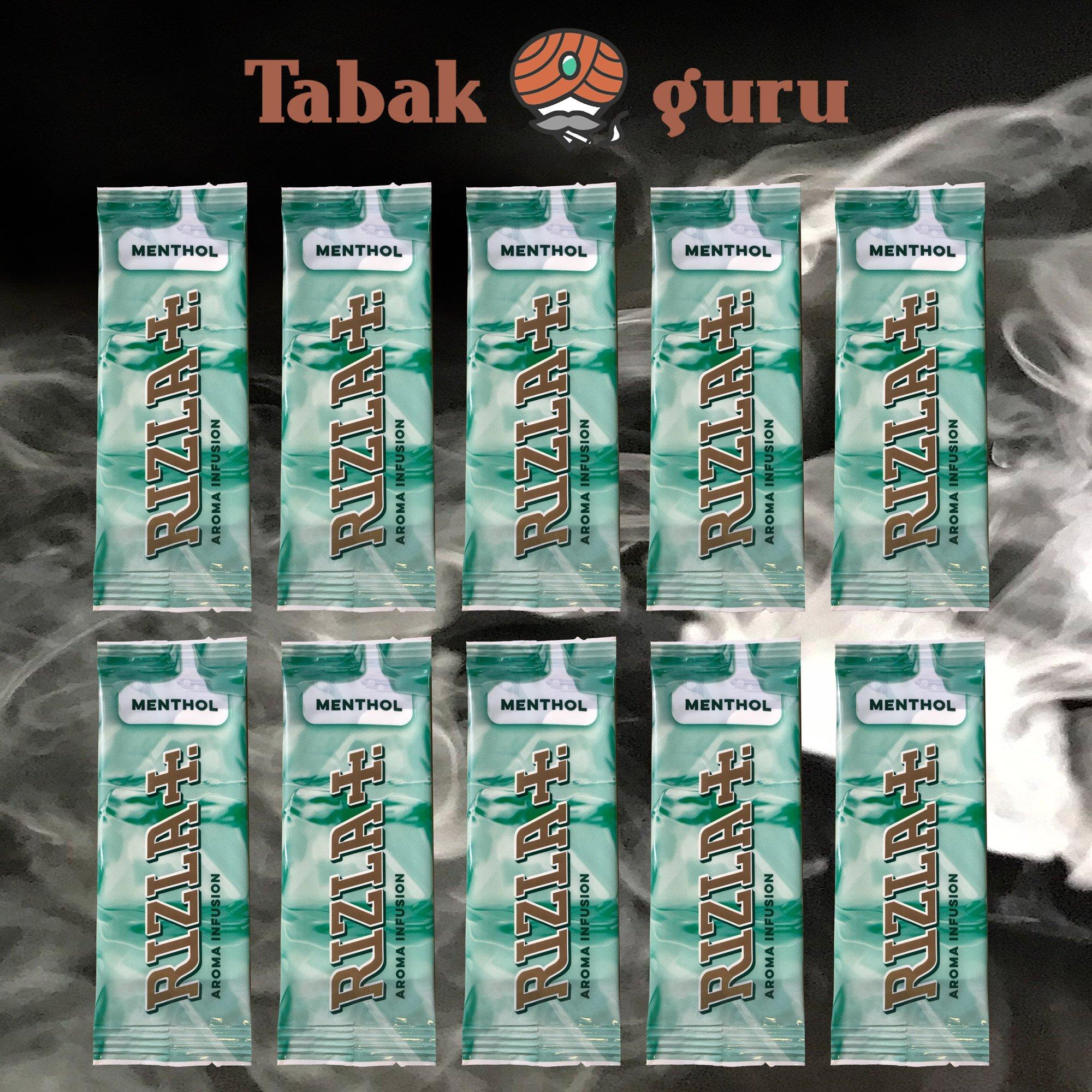 10 x Aromakarte Rizla+  MENTHOL Aroma Infusion