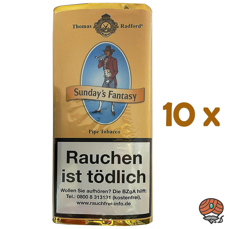 10x Thomas Radford Sunday´s Fantasy Pfeifentabak Pouch à 50 g