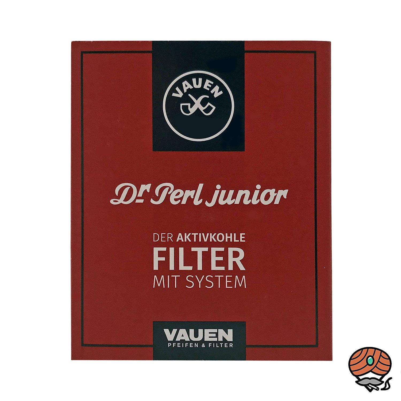 Dr. Perl Junior Jubox Aktivkohle Pfeifenfilter 9mm 1 Schachtel à 40 Stück
