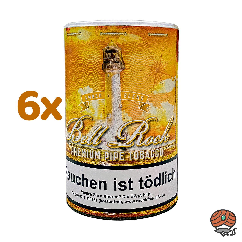 6 x Bell Rock Amber Blend / Vanille Pfeifentabak 160 g Dose