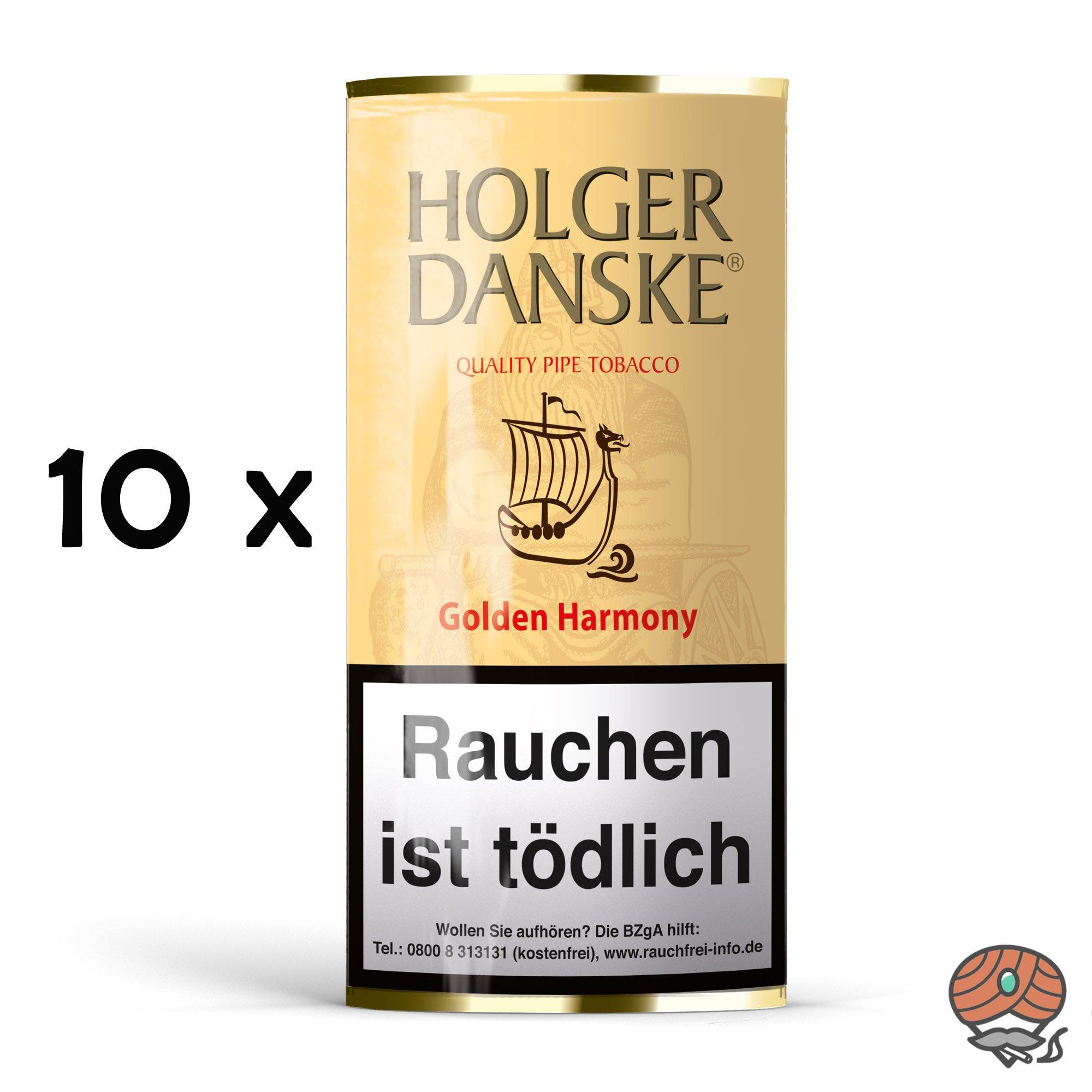 10x Holger Danske Golden Harmony Pfeifentabak à 40g