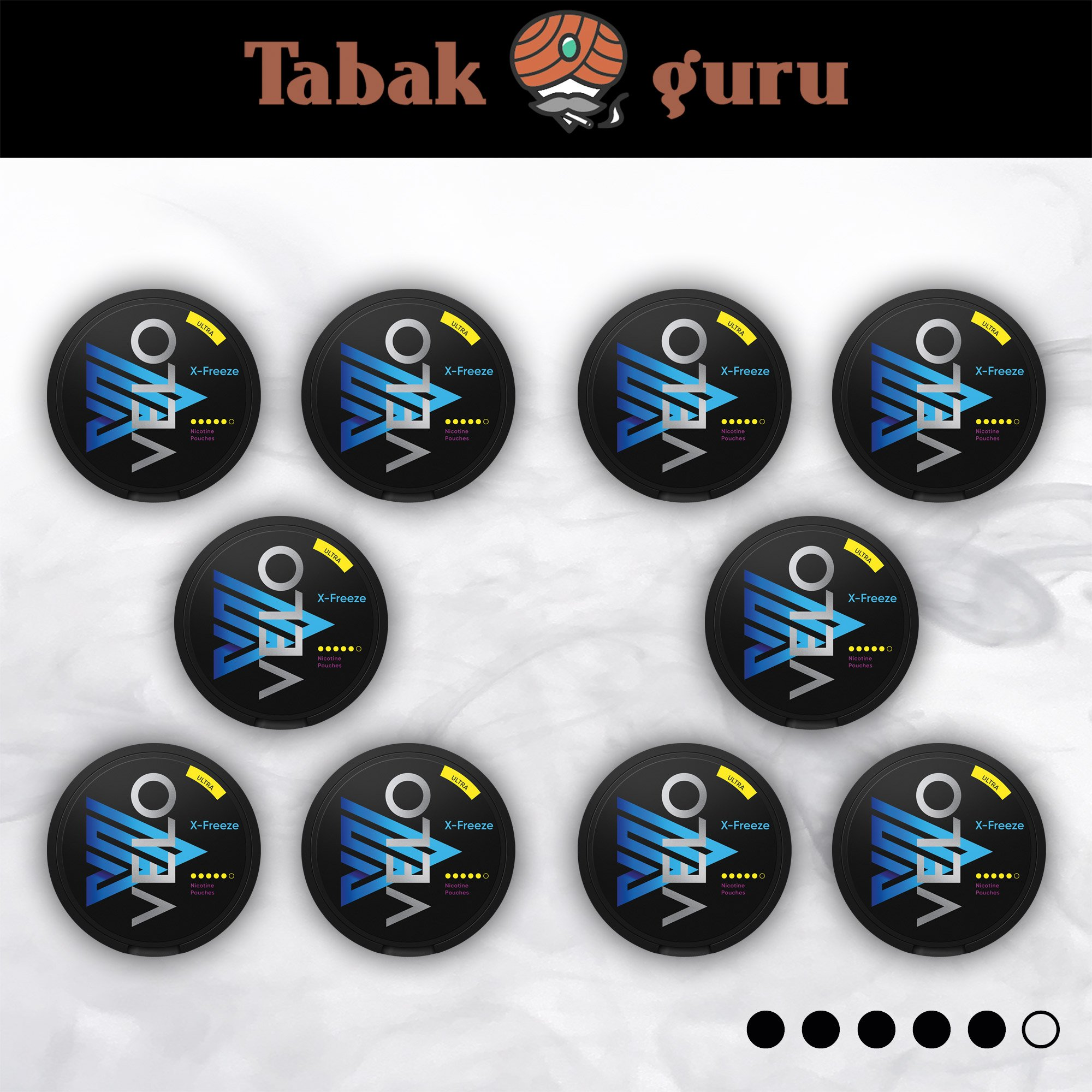 10 x VELO X-Freeze Ultra Kautabak Intensität 5