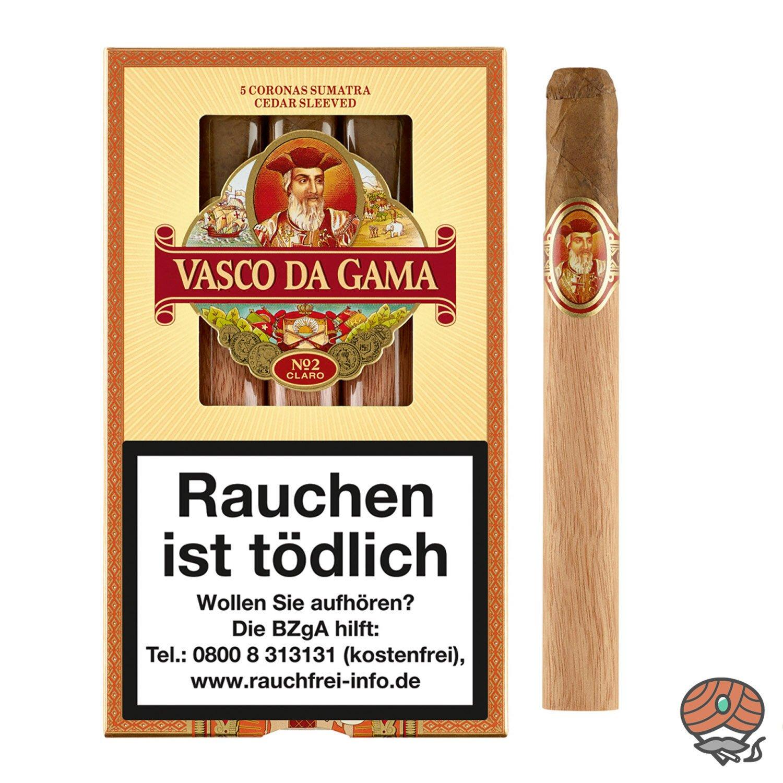 Vasco da Gama No. 2 Claro Sumatra Coronas 5 Zigarren