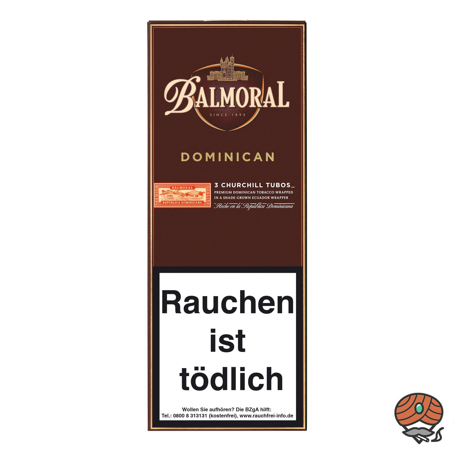 Balmoral Dominican Selection Churchill Tubos Zigarren, 3 Stück