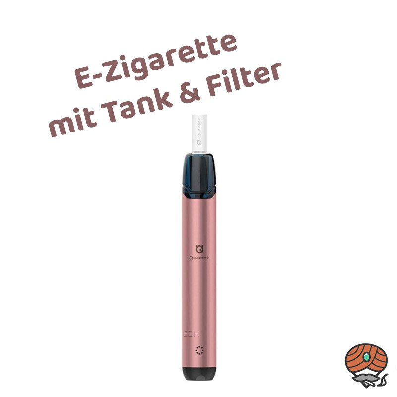 Quawins Vstick Pro Kit E-Zigarette mit Filter in Rosé-Gold