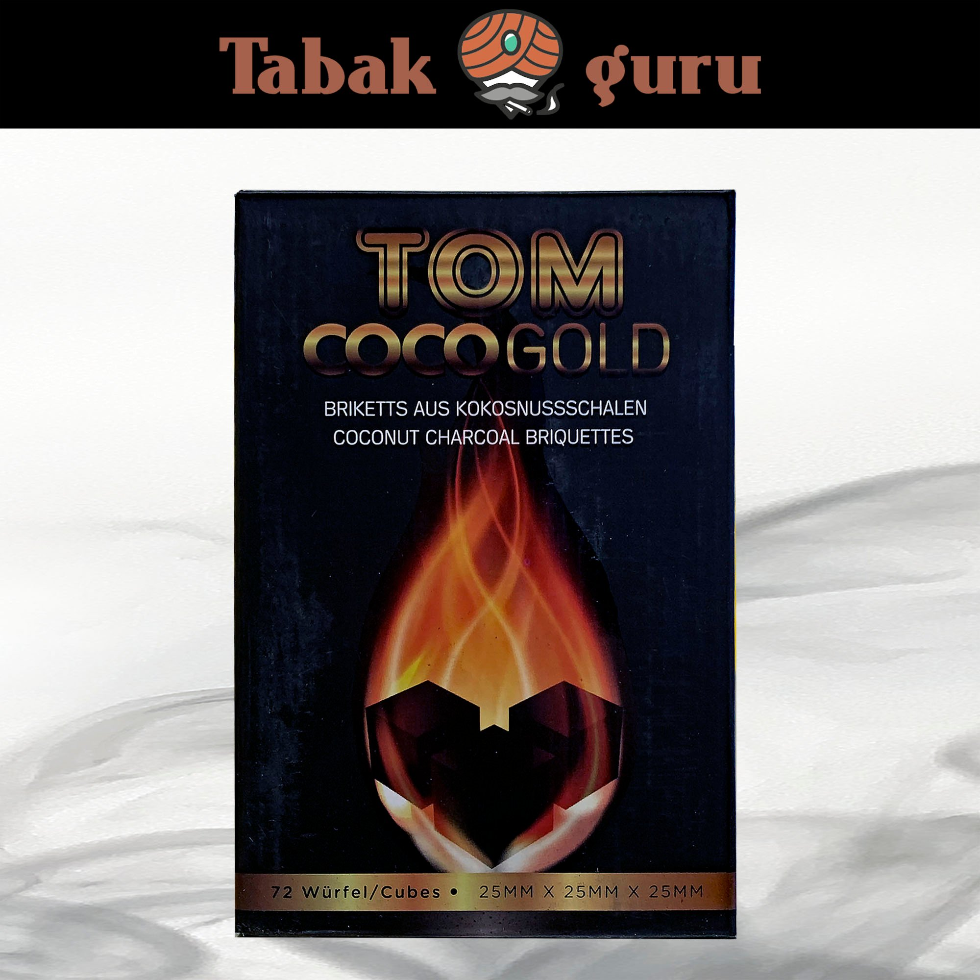 Tom Cococha CocoGold Shishakohle 1kg = 72 Stück