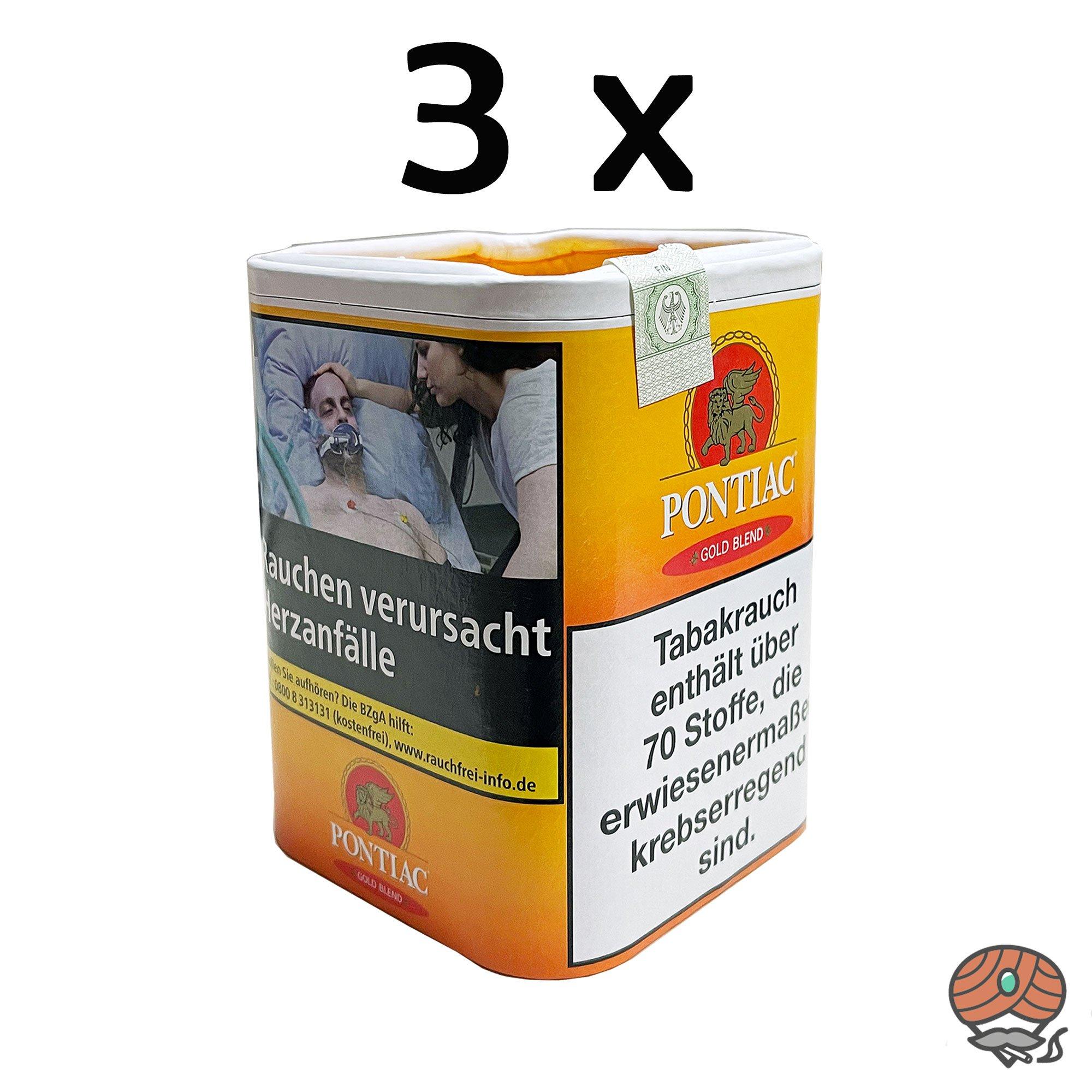 360g = 3 Dosen Pontiac Gold Blend Tabak Dose à 120g
