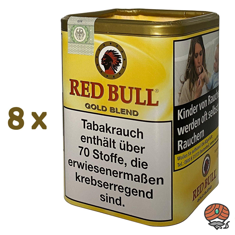 8x Red Bull Gold Blend Tabak / Zigarettentabak Dose à 120g