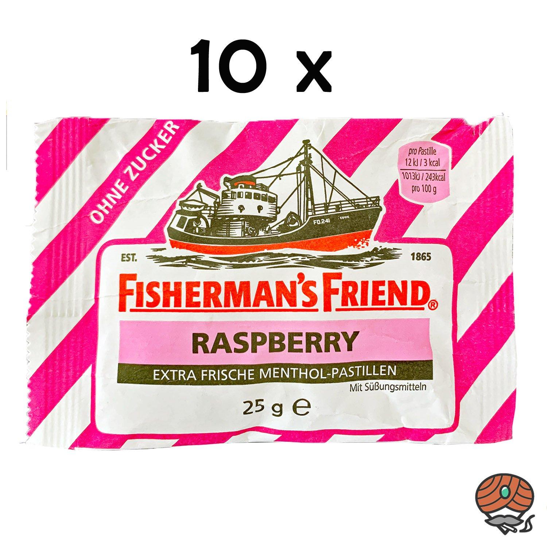 10x Fisherman`s Friend Menthol-Pastillen Raspberry - Himbeere
