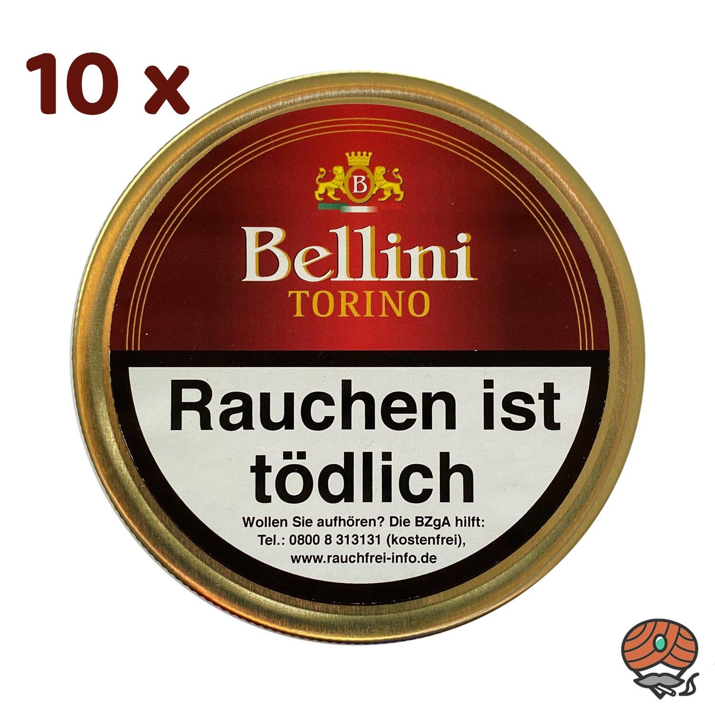 10 x Bellini Torino Pfeifentabak 50g Dose