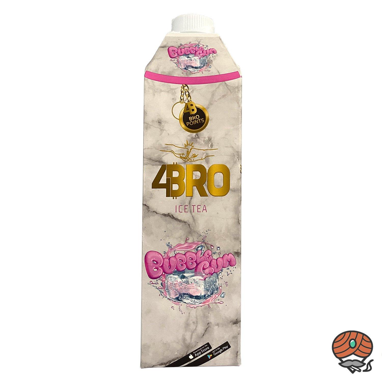 4BRO ICE TEA Eistee 1 Liter BUBBLE GUM Kaugummi-Geschmack