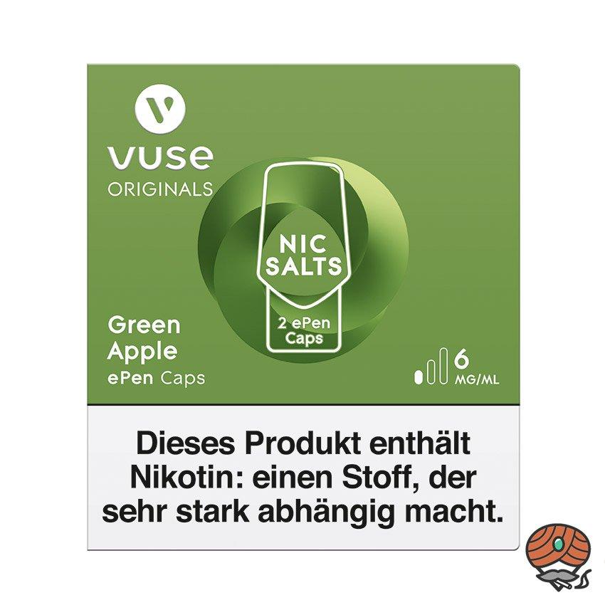 Vuse ePen Caps 1x Green Apple 6 mg/ml à 2 Caps (ehem. Vype ePen3)