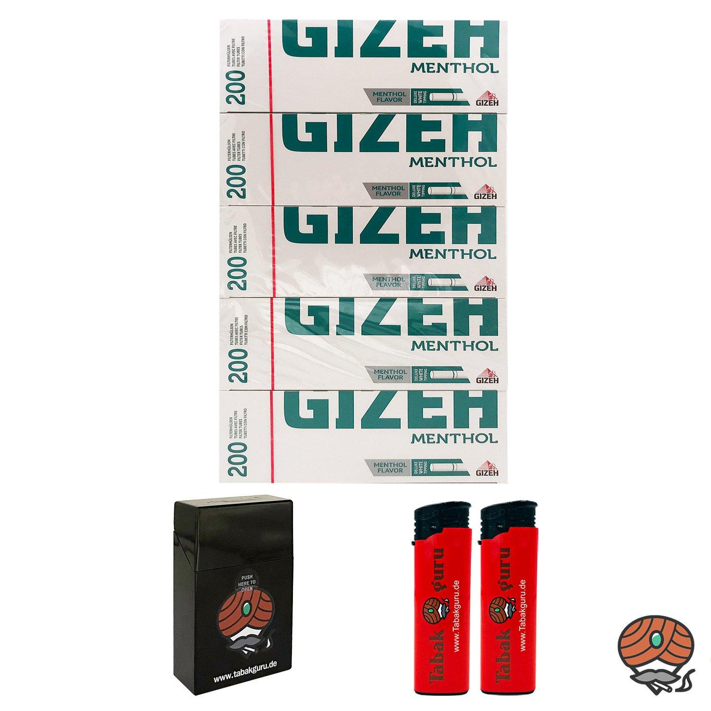 5 Pack Gizeh Menthol Filterhülsen + Zubehörartikel