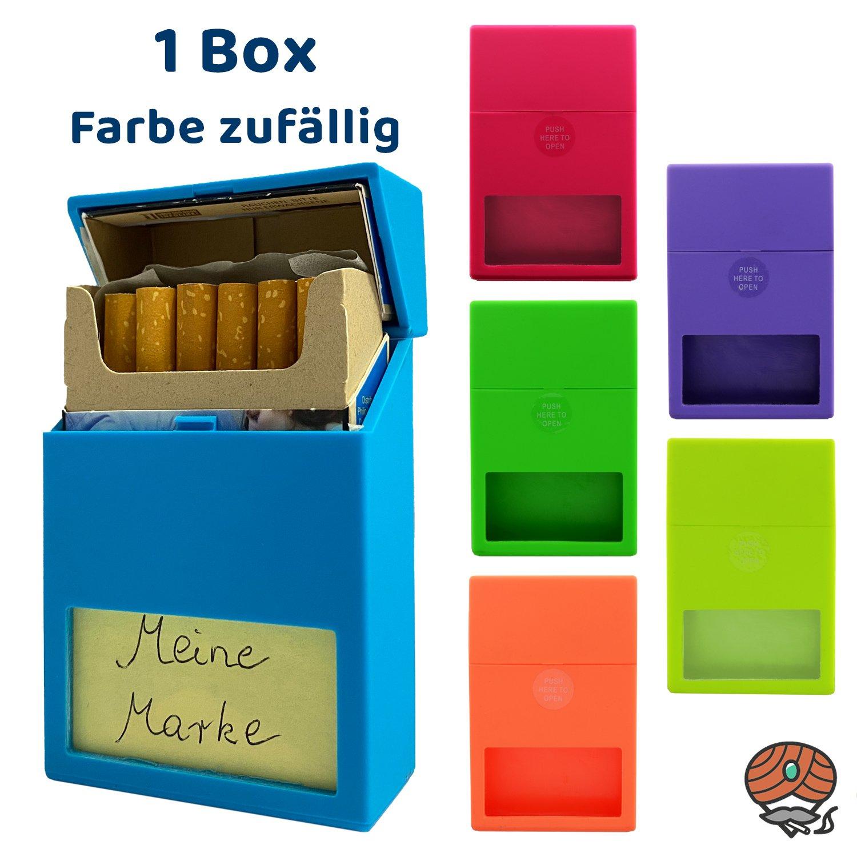 Atomic Kunststoff Zigarettenbox mit Sichtfenster, Farbe zufällig