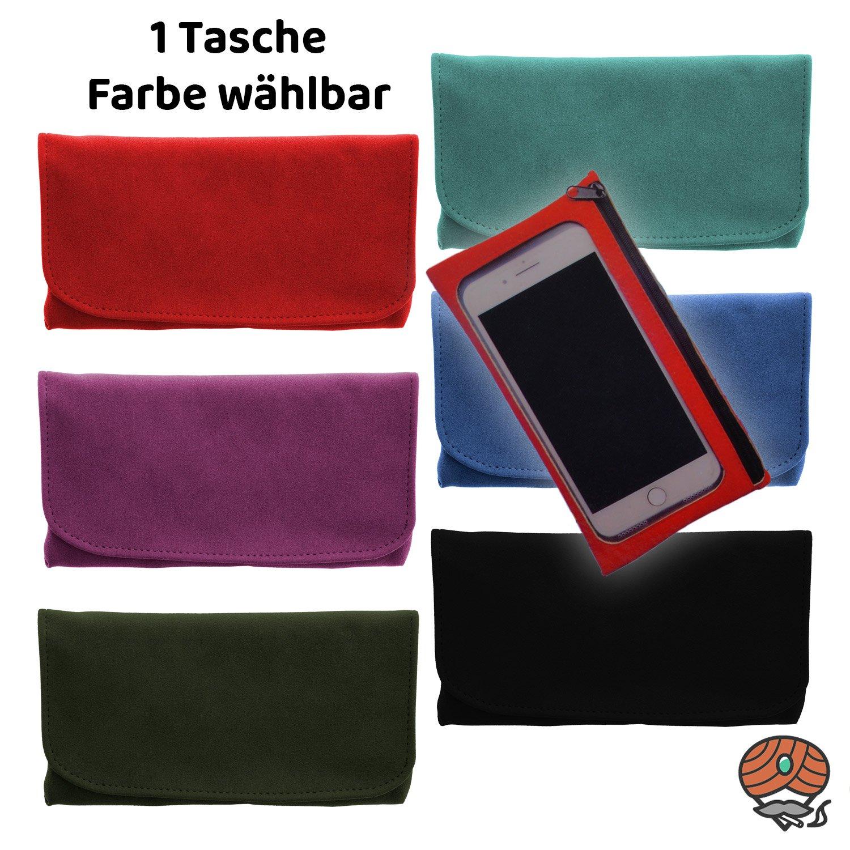 Atomic Tabak Beutel XL Plus für Drehtabak und Zubehör, Handy-Tasche, Alcantara, Farbe wählbar