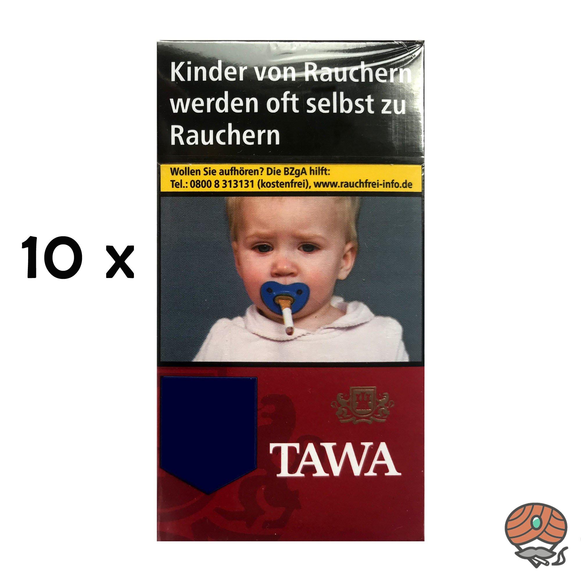 Tawa Red / Rot Long 100 Zigaretten - 10x20 Stück = 1 Stange